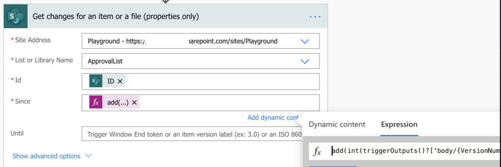 Get previous version of SharePoint item in Power Automate