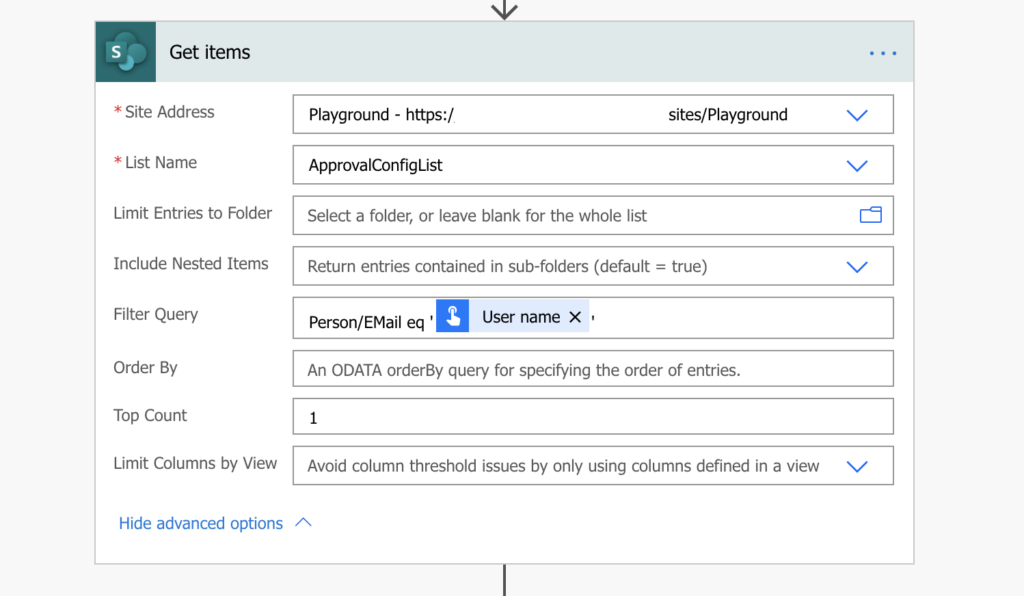 Power Automate lookup for user