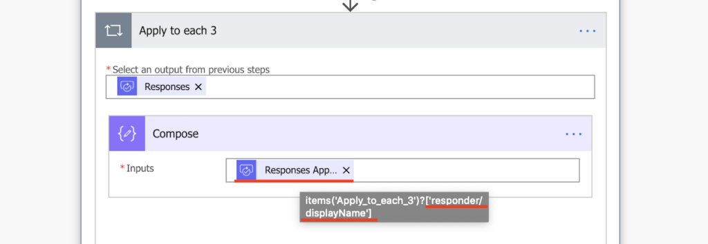 Power Automate first expression value