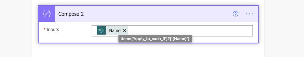 Power Automate file name internal name