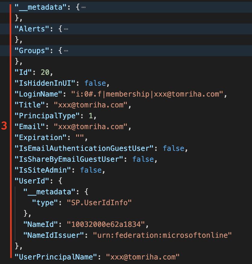 user data in http response