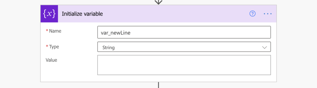 New line variable