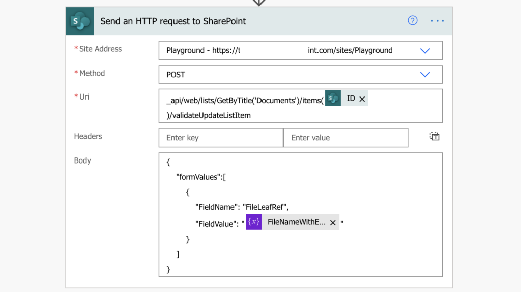 Power Automate rename file in SharePoint