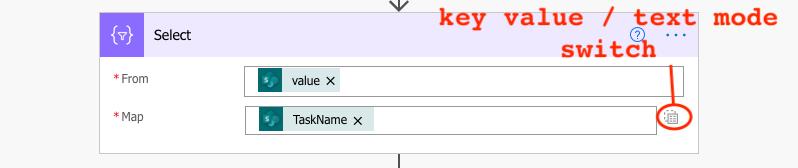 Select task name