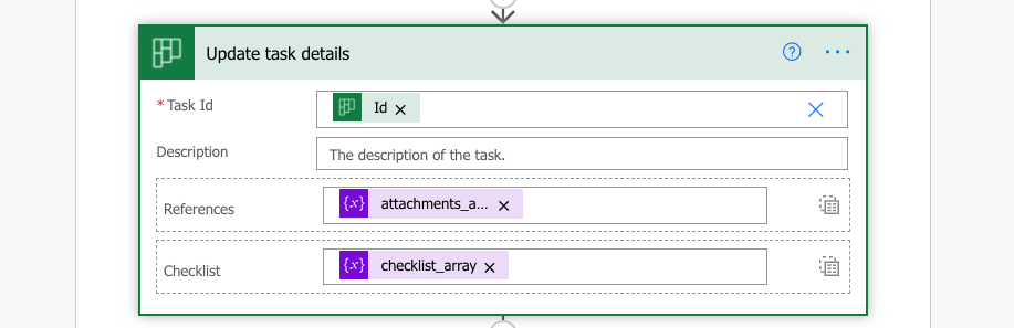Add 0-n attachments from SharePoint to a Planner task in Power Automate