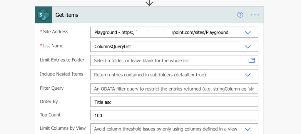 Order SharePoint items in Power Automate