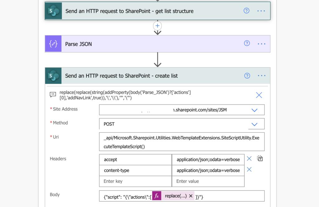 Power Automate add SharePoint list navigation