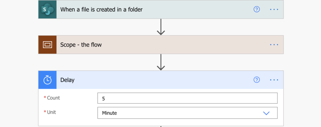 Power Automate add delay between flow runs