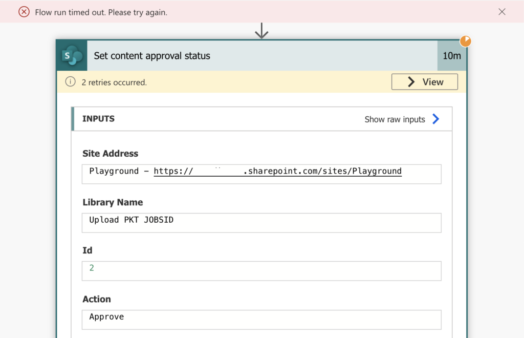 Power Automate content approval status