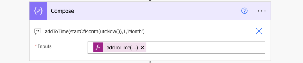 Power Automate filter date month